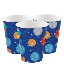 Blast Off Birthday Paper Cups -  266ml