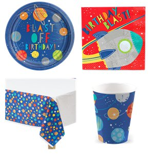 Blast Off Birthday Party Pack - Value Pack for 8