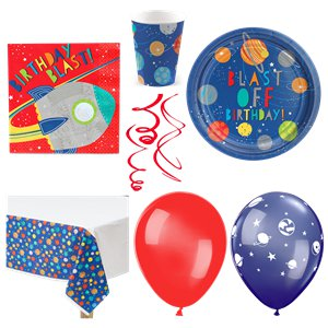 Blast Off Birthday Party Pack - Deluxe Pack for 16