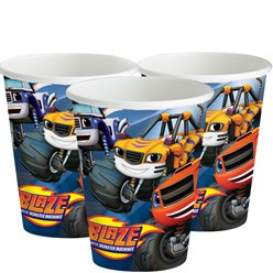 Blaze and the Monster Machines Cups - 266ml Paper Party Cups
