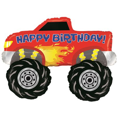 "Monster Truck Large Balloon - 40"" Foil"