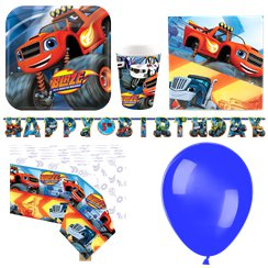 Blaze and the Monster Machines Party Pack - Deluxe Pack for 8