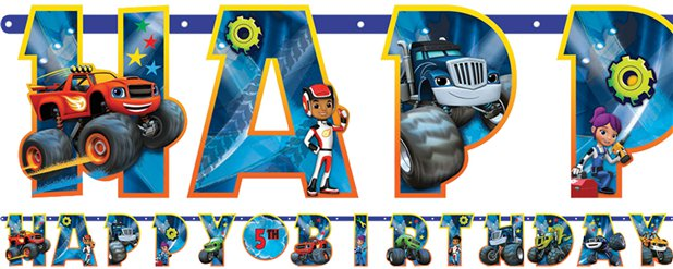 Blaze and the Monster Machines Jumbo Letter Banner