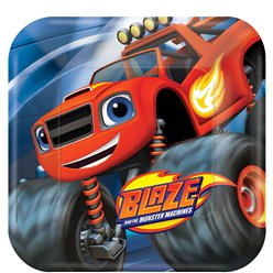 Blaze and the Monster Machines Dinner Plates - 23cm Paper Party Plates