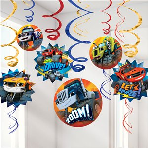 Blaze and the Monster Machines Hanging Swirls