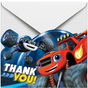 Blaze and the Monster Machines Thank You Cards and Envelopes