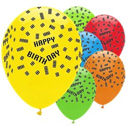 "Block Party Balloons - 12"" Latex"
