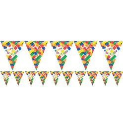 Block Party Paper Flag Bunting - 3.7m