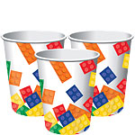 Block Party Cups - 255ml Paper Party Cups