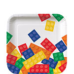 Block Party Square Dessert Plates 17cm
