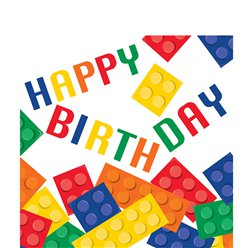 Block Party Happy Birthday Luncheon Napkins - 3ply
