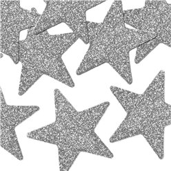 Silver Glitter Star Table Scatters