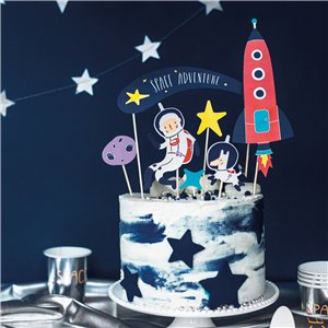 Space Cake Topper Decorations