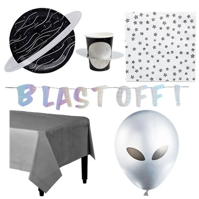 Space Blast Off Deluxe Party Pack