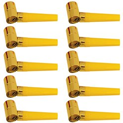 Gold Foil Party Blowers - Mega Pack