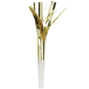 Metallic Silver and Gold Fringed Foil Party Blowers