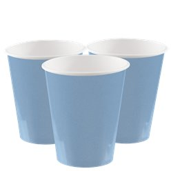 Baby Blue Cups - 266ml Paper