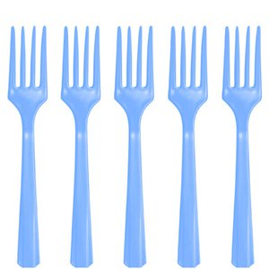 Baby Blue Reusable Forks - 20pk