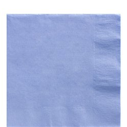 Baby Blue Luncheon Napkins - 33cm Square 2ply Paper
