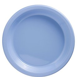 Baby Blue Plates - 26cm Plastic Party Plates