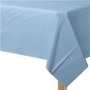 Baby Blue Plastic Tablecover - 1.4m x 2.8m