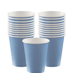 Baby Blue - 266ml Paper Party Cups
