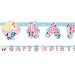 Be A Mermaid 'Happy Birthday' Letter Banner - 1.8m