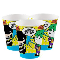 Batman & Joker Paper Cups - 250ml