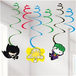 Batman & Joker Swirl Decorations