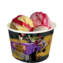 LEGO Batman Paper Ice Cream Tubs