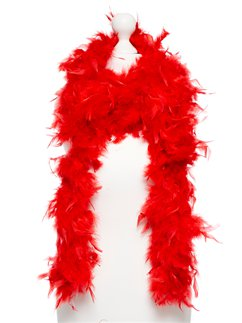 Red Deluxe Feather Boa - 80g