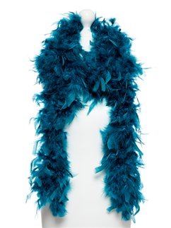 Deluxe Teal Feather Boa