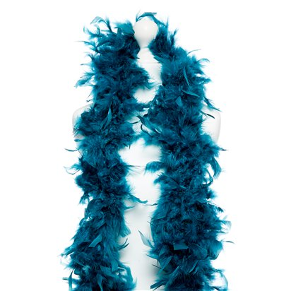 Deluxe Teal Feather Boa left