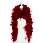 Deluxe Burgundy Feather Boa