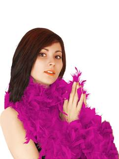 Pink Deluxe Feather Boa 80g - 180cm