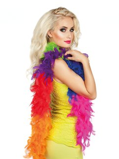 Rainbow Pride Feather Boa - 180cm