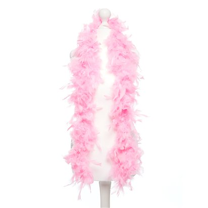 Pink Feather Boa - Womens 20s Fancy Dress Accessories back