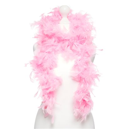 Pink Feather Boa - Womens 20s Fancy Dress Accessories front