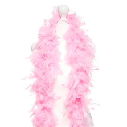 Pink Feather Boa - Womens 20s Fancy Dress Accessories left