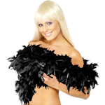 Black Deluxe Feather Boa 80g - 180cm