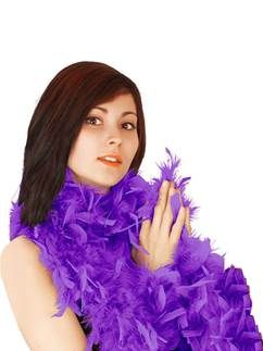 Deluxe Purple Feather Boa