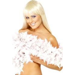 Deluxe White Feather Boa