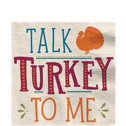 'Talk Turkey To Me' Thanksgiving Beverage Napkin