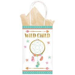 Boho Birthday Girl Paper Party Bags