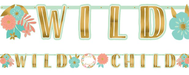 Boho Birthday Girl Add an Age Letter Banner - 3.2m