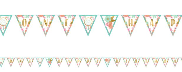 Boho Birthday Girl Bunting - 4.5m
