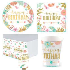 BOHO Birthday Girl - Value Pack For 8