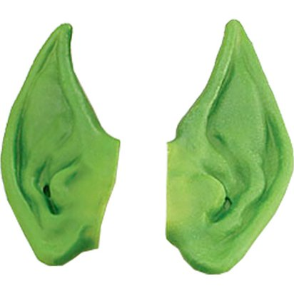Green Leprechuan Irish Pixie Ears - St Patrick's Day Accessories front