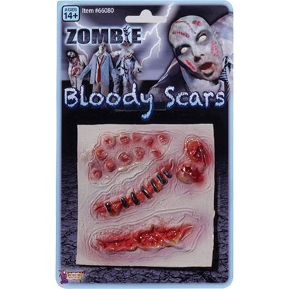 FX Zombie Scars - Halloween Special Effects Makeup  front