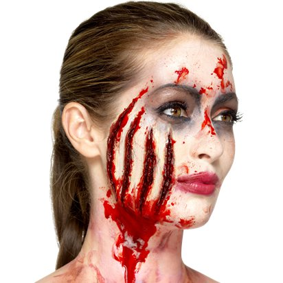 Latex Claw Wound - Halloween Special Effects Makeup front